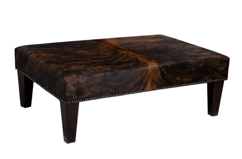 Cowhide Footstool / Ottoman 3ft x 2ft FST836
