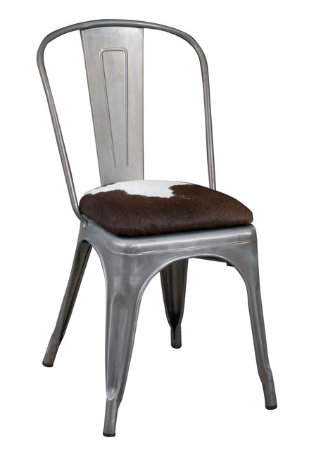 Brilliant Tolix Cowhide Chair Tol25 City Cows Squirreltailoven Fun Painted Chair Ideas Images Squirreltailovenorg