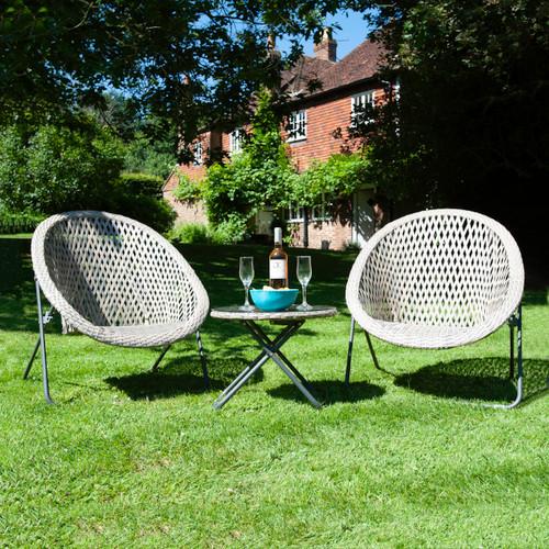 Foldable Rattan Garden Furniture Set In Stone