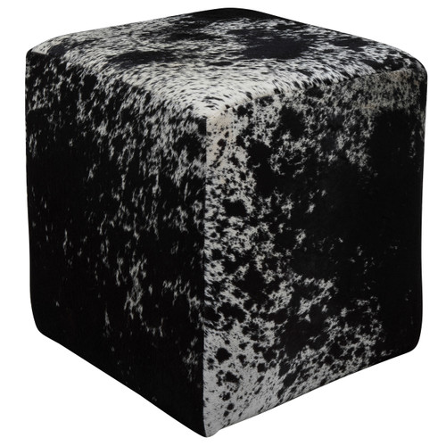 black and white cowhide cube