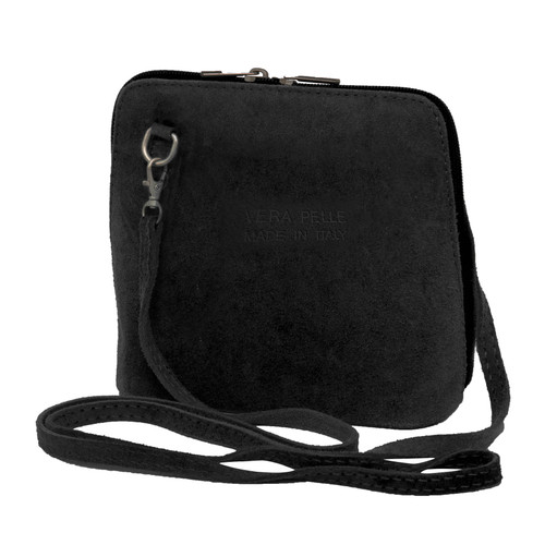 Suede Sholder Bag in Black