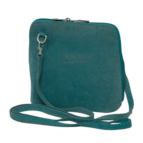 Suede Sholder Bag in Aqua