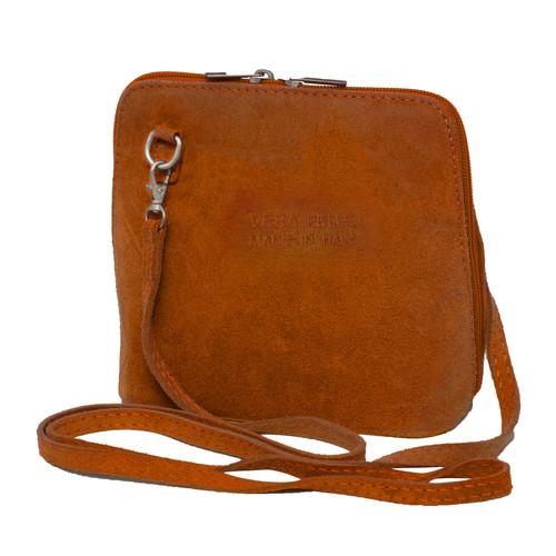 Suede Sholder Bag in Burnt Orange