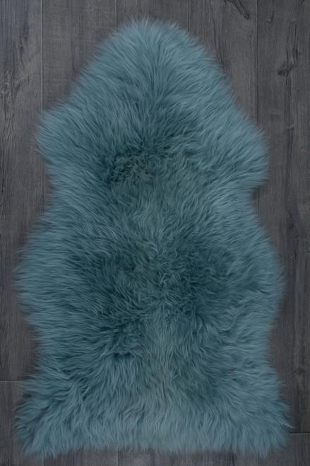 Aqua Single Sheepskin Rug