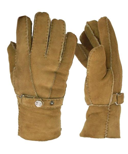 Mens Sheepskin Gloves in Tan