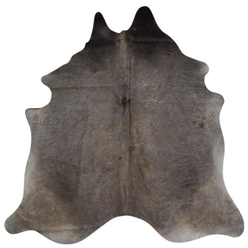 dark grey and brown cowhide rug