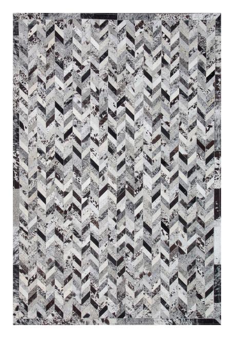 Patchwork Cowhide Rug PWM(BLK)001 (240cm x 160cm)