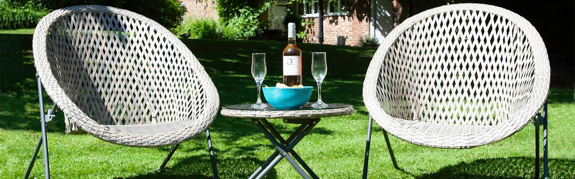 Faux Rattan Garden Furniture Set