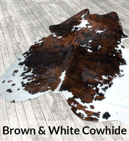 Brown & White Cowhides