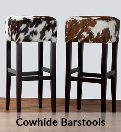Cowhide Bar Stools