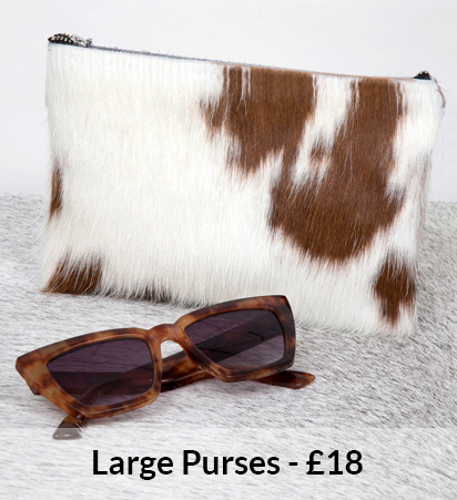 Large Cowhide Purses