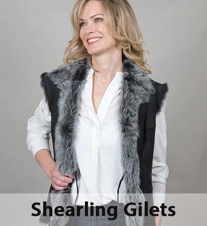 Shearling Gilets