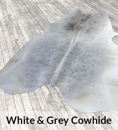 White & Grey Cowhides