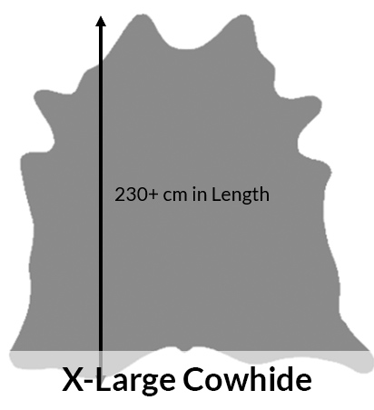 extra large cowhides