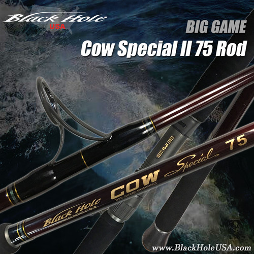 "Black Hole 7'4"" Cow Special II 75 Popping Spinning Rod"