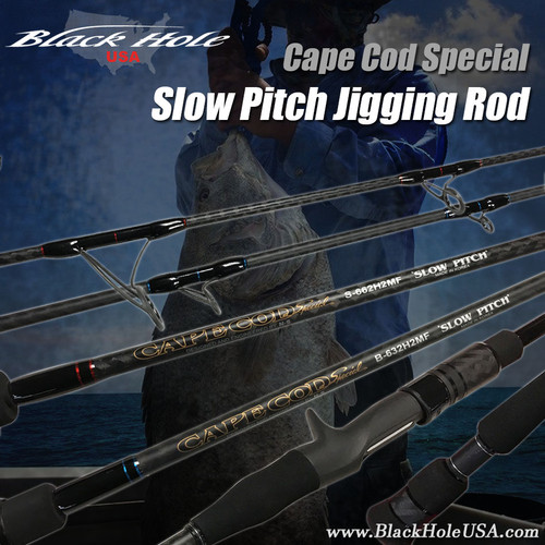 Black Hole Cape Cod Special SLOW PITCH Jigging Rod