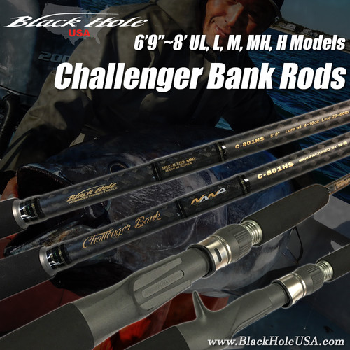 "Black Hole USA Challenger Bank Rods (6'9""~8')"