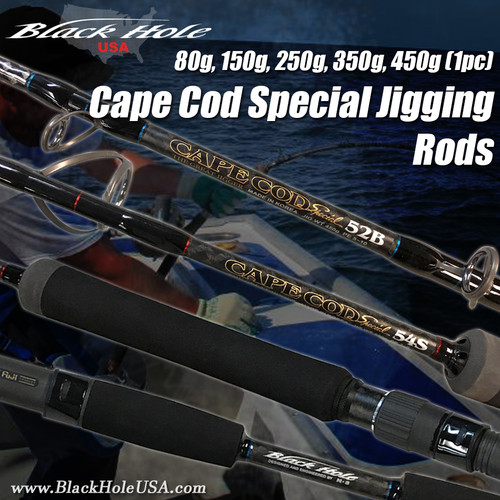 Black Hole USA Cape Cod Special 1pc Jigging Rods (80g ,150g, 250g 350g, 450g)