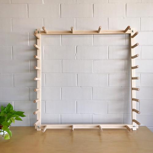 19 Yard Maple Warping Board for a Weaving Loom or Self-Striping Yarn