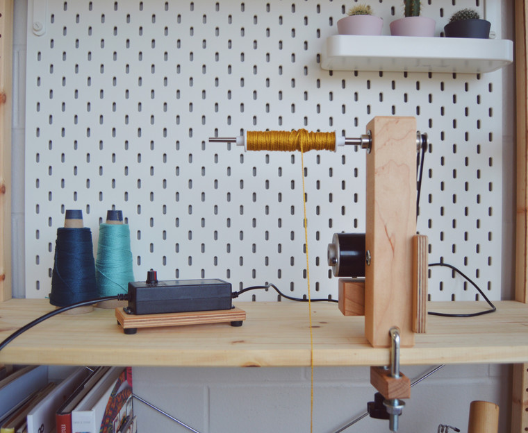 Loaded with Schacht bobbin using included foot pedal
