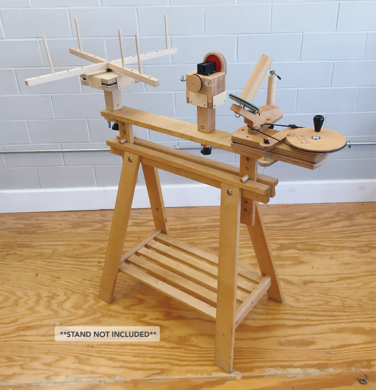 Fiber Artist Supply Ultimate Winding Station includes Jumbo Yarn Ball Winder, Yarn Meter, Medium Yarn Swift & IKEA Finnvard Attachments