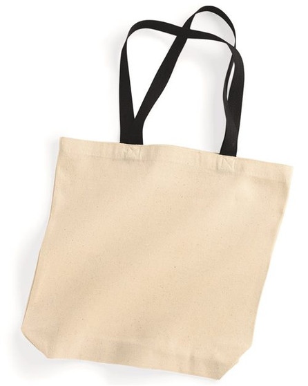 Natural Tote with Contrast-Color Handles Liberty Bags  8868