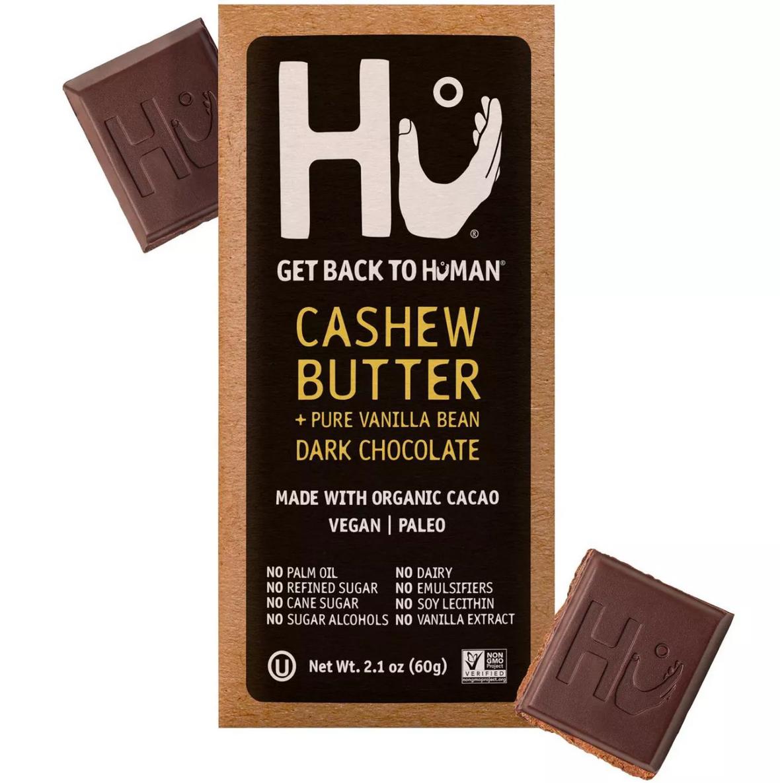 Hu Kitchen Cashew Butter & Vanilla Bean Dark Chocolate Bar 2.1 Oz (Pack of 24)