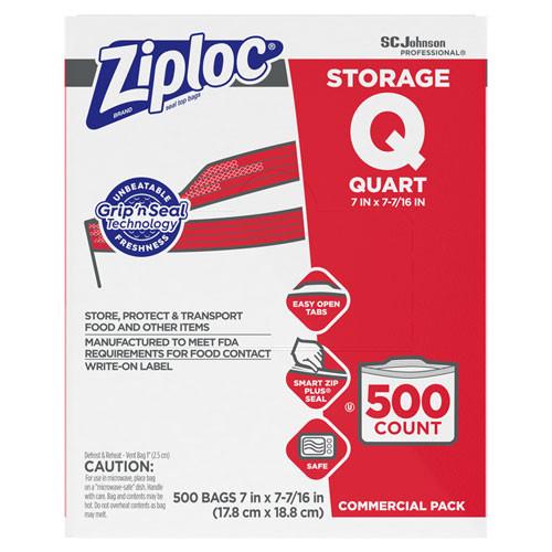 SC Johnson Ziploc One Quart Double Zipper Storage Bags