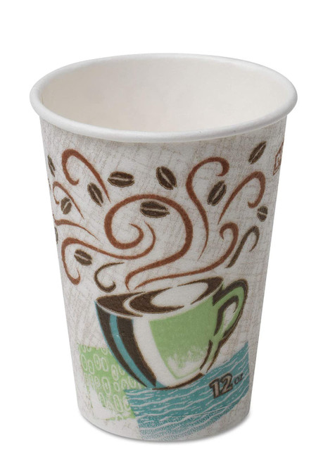 Dixie PerfecTouch Paper Hot Cups, Coffee Haze, 12 Ounce