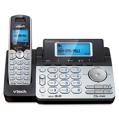 Verbatim Two-Line Expandable Cordless Phone with Answering System