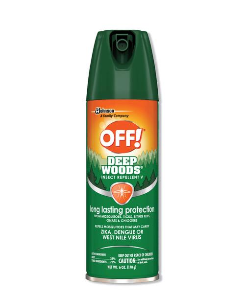 Off! Deep Woods Insect Repellent 6oz Aeroso1, 12/carton