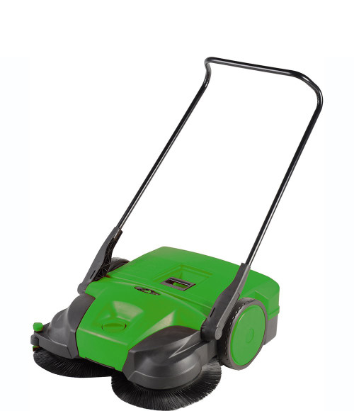 """Bissell 31"""" Battery Powered Triple Brush Push Power Sweeper, 13.2 Gallon Capacity"""