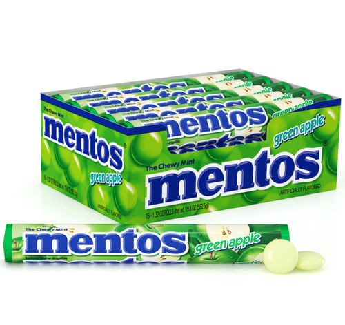 Mentos Rolls Green Apple Chewy Mint