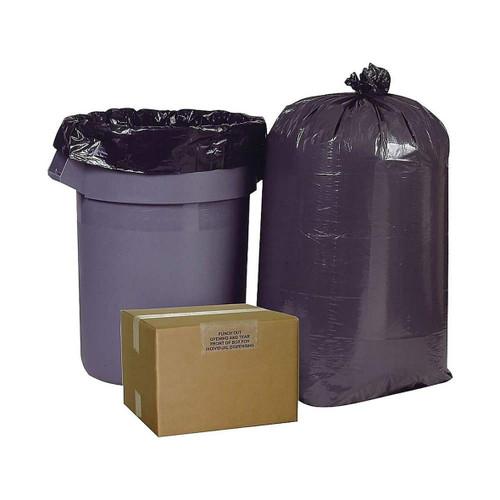 Brighton Professional High Density Super Heavy Strength Trash Bags, 60 Gallon, Black