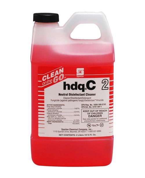 Spartan hdqC2 Neutral Disinfectant Cleaner, Citrus Scent