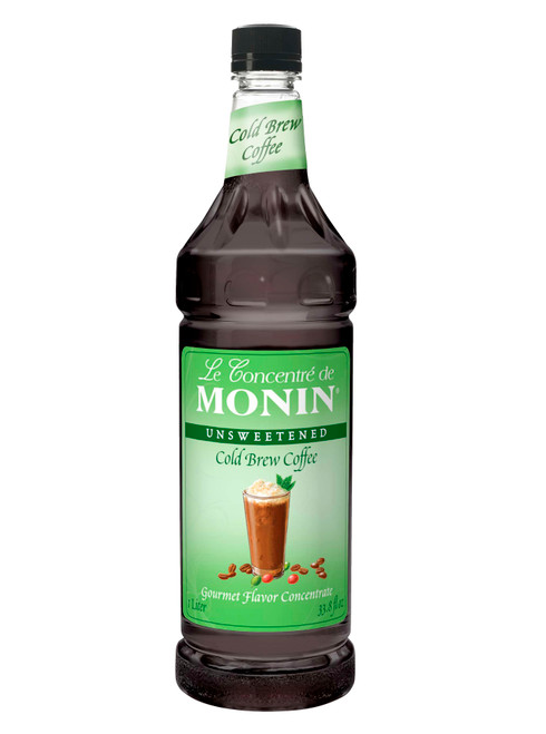 Monin Cold Brew Coffee Concentrate, Unsweetened Gourmet Flavor