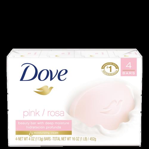 Dove Go Fresh Pink Rose Soap Bar, 4 Ounce Bar - 4 per Pack - 18 per Case