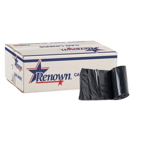 Renown Trash Can Liner, 45 Gallon, Black