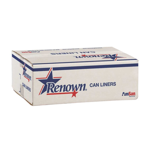Renown Trash Can Liners, 15 Gallon, Black