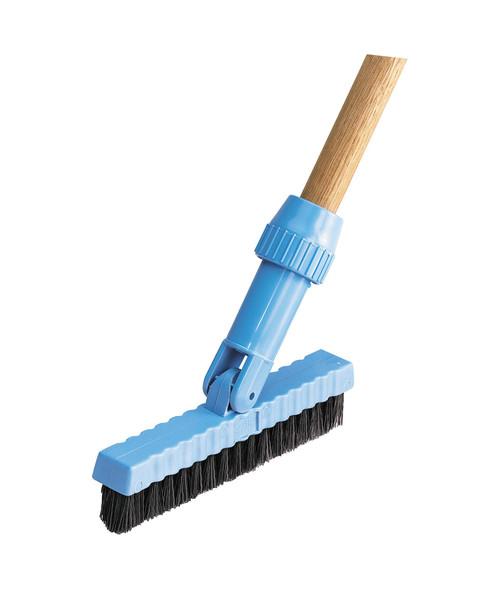 "Renown 7-1/2"" Swivel Head Grout Line Brush, Black"