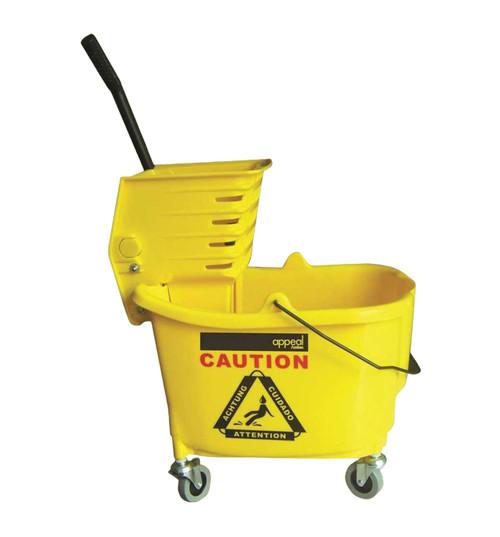 Appeal APP15501 Combo Down Press Mop Bucket, 35 Quart, Yellow
