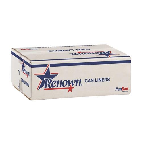 Renown Trash Can Liners, 45 Gallon, Natural