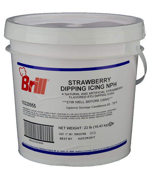 Brill Strawberry Flavored Dipping Icing, 23 Pound