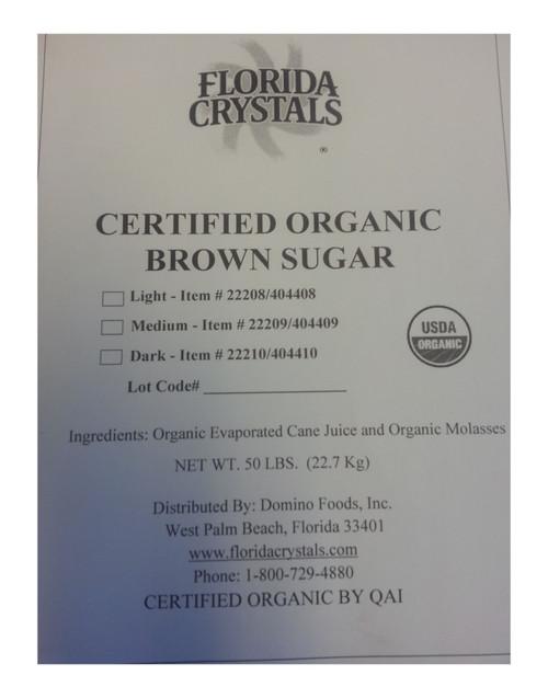 Florida Crystals Brown Sugar Dark Organic