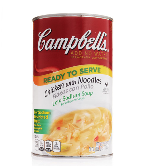 Campbell's Classic Low Sodium Chicken Noodle Shelf Stable Soup