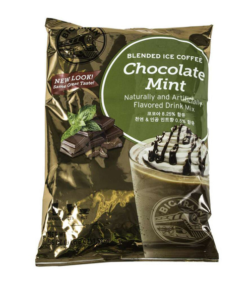 Big Train Chocolate Mint Blended Ice Coffee Flavored Mix