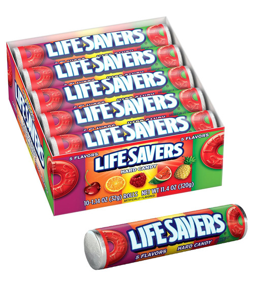 Lifesavers Five Flavor Candy Roll