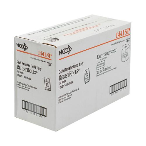 National Checking Tape Register Roll, White, 1 Ply, 44mm