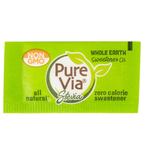 Pure Via All-Natural Stevia Sweetener Non-GMO Keto Single Serving
