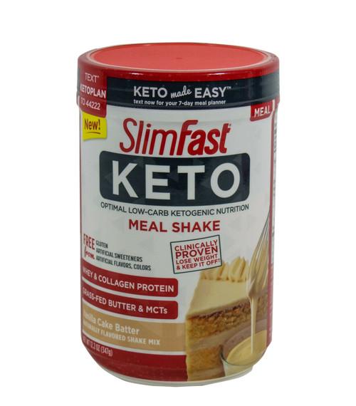 Slimfast Keto Vanilla Cake Batter Meal Replacement Powder